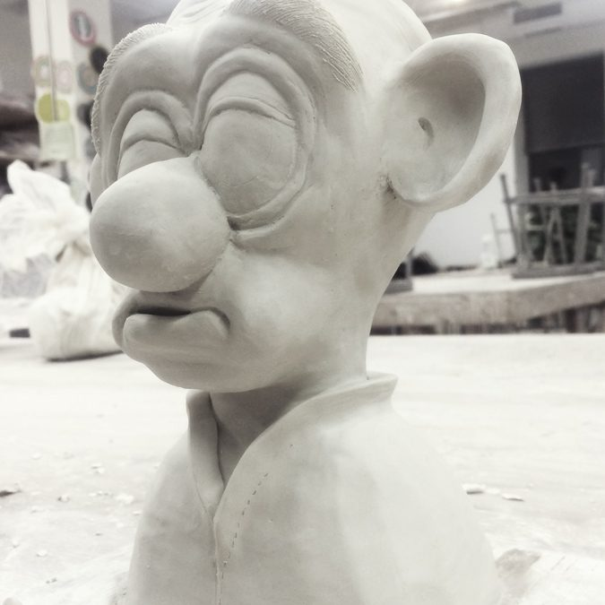 A sculpture of Louis